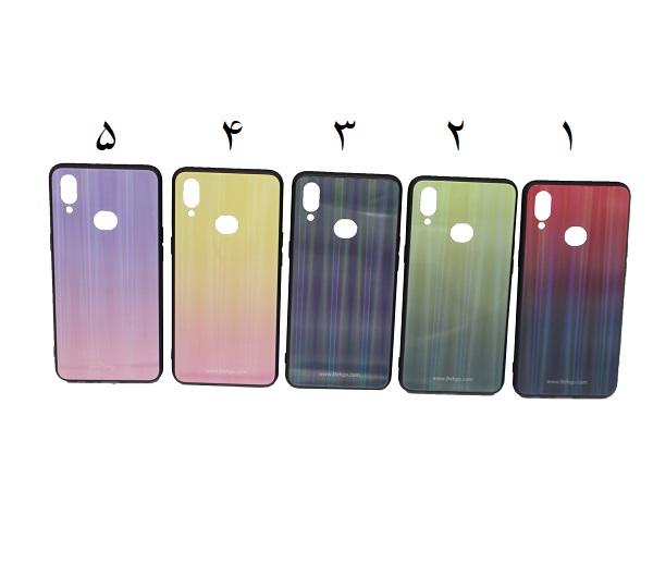 کاور A10s لیزری رنگی محافظ قاب سامسونگ A10s مدل لیزری گوشی Tempered Glass Laser Case Samsung galaxy A10s