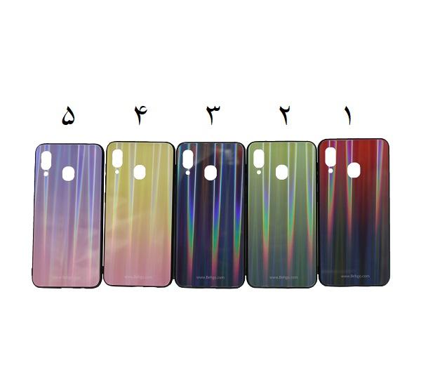کاور A20 و A30 لیزری رنگی محافظ قاب سامسونگ A20 و A30 مدل لیزری گوشی Tempered Glass Laser Case Samsung galaxy A20/A30
