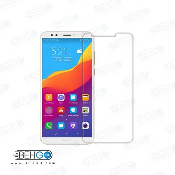 گلس آنر 7c بی رنگ و شفاف هواوی آنر 7 سی یا ,Honor 7c محافظ صفحه نمایش شیشه ای Glass Screen Protector huawei honor 7c
