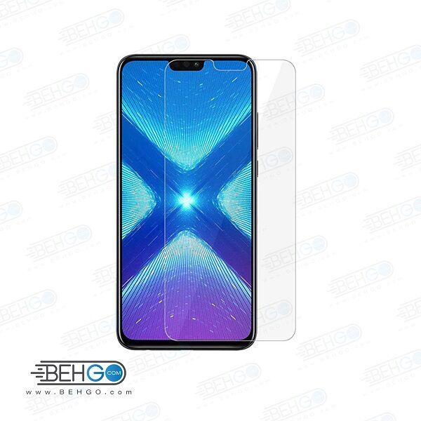 گلس آنر 8x بی رنگ و شفاف هواوی آنر 8 ایکس یا ,Honor 8x محافظ صفحه نمایش شیشه ای Glass Screen Protector huawei honor 8x