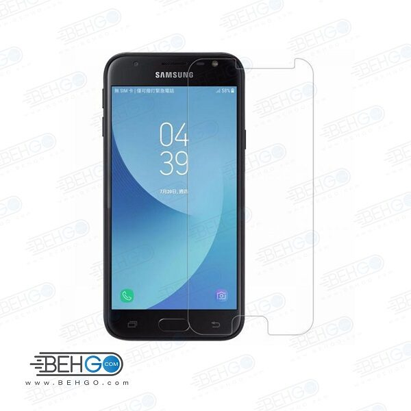 گلس بی رنگ و شفاف یا محافظ صفحه نمایش شیشه ای Glass Screen Protector samsung j4