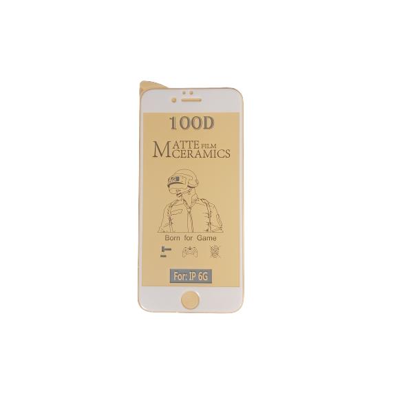 گلس مات آیفون 6 و 6s با پوشش کامل محافظ سرامیکی مات اصلی iphone 6s انعطاف پذیر نشکن با چسب کامل محافظ صفحه نمایش نانو سرامیکی مات Original Matte Nano Flexible Ceramic Full Coverage Screen Protector with Full Glue Anti Broken For Iphone 6/6s