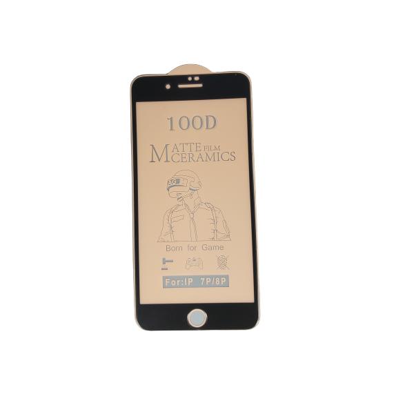 گلس مات آیفون 7 پلاس و 8 پلاس با پوشش کامل محافظ سرامیکی مات اصلی iphone 7plus/8plus آیفون هفت پلاس و آیفون هشت پلاس انعطاف پذیر نشکن با چسب کامل محافظ صفحه نمایش نانو سرامیکی مات Original Matte Nano Flexible Ceramic Full Coverage Screen Protector with Full Glue Anti Broken For Iphone 7 plus/8 plus