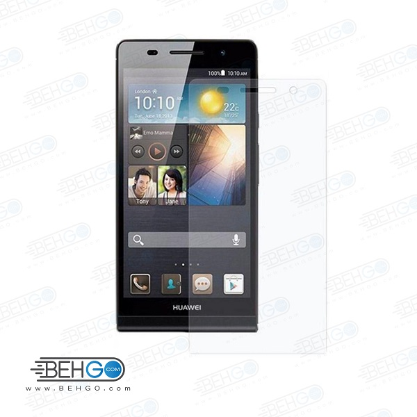 گلس پی 6 بی رنگ و شفاف هواوی p6 یا ,پی 6 محافظ صفحه نمایش شیشه ای Glass Screen Protector huawei p6