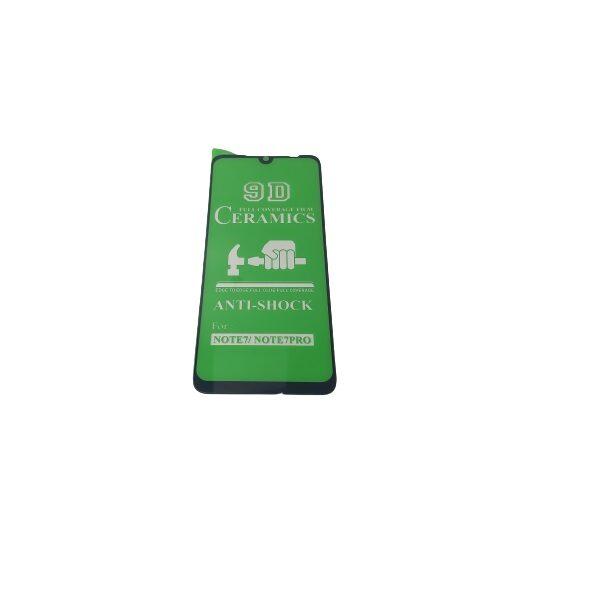 گلس گوشی شیائومی ردمی نوت 7 پرو با پوشش کامل محافظ سرامیکی اصلی شیاومی redmi Note 7 Pro انعطاف پذیر نشکن با چسب کامل محافظ صفحه نمایش نانو سرامیکی شیائومی Original Nano Flexible Ceramic Full Coverage Screen Protector with Full Glue Anti Broken For Xiaomi Redmi Note7 pro/Note 7