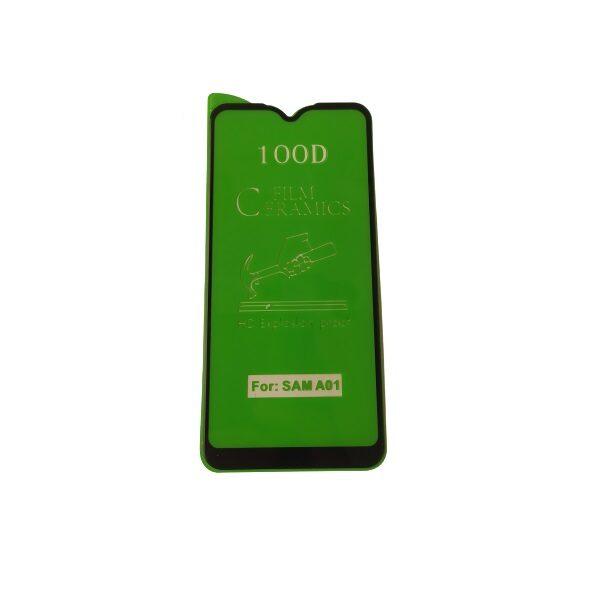گلس A01 با پوشش کامل محافظ سرامیکی اصلی ای 01 گلس نانو A01 مدل 2020 انعطاف پذیر نشکن با چسب کامل محافظ صفحه نمایش گوشی سامسونگ Original Nano Flexible Ceramic Full Coverage Screen Protector with Full Glue Anti Broken For Samsung Galaxy A01