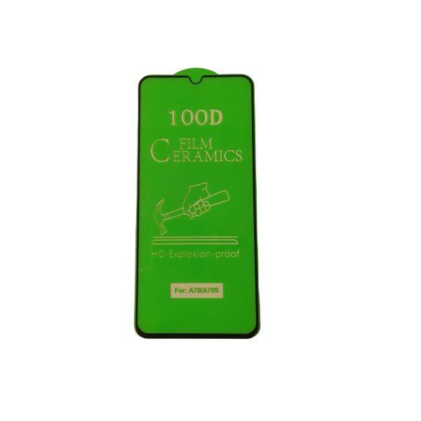 گلس A70 با پوشش کامل محافظ سرامیکی اصلی آ هفتاد سامسونگ نانو samsung a70 گلس انعطاف پذیر نشکن سامسونگ A70 با چسب کامل محافظ صفحه نمایش نانو سرامیکی سامسونگ Original Nano Flexible Ceramic Full Coverage Screen Protector with Full Glue Anti Broken For Samsung A70