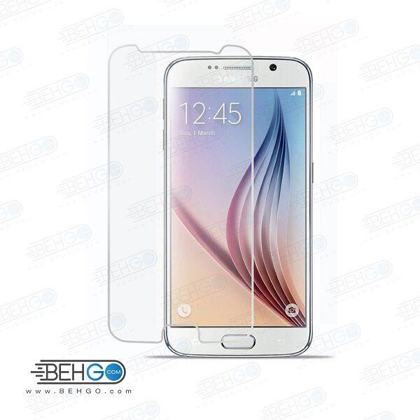 گلس S6 بی رنگ و شفاف یا محافظ صفحه نمایش شیشه ای Glass Screen Protector samsung S6