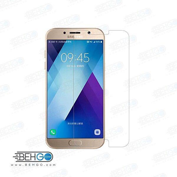 گلس a3 2017 بی رنگ و شفاف یا محافظ صفحه نمایش شیشه ای Glass Screen Protector samsung A3 2017