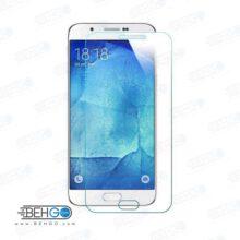 گلس a8 2016 بی رنگ و شفاف یا محافظ صفحه نمایش شیشه ای Glass Screen Protector samsung A8 2016