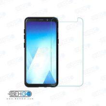 گلس a8 plus بی رنگ و شفاف یا محافظ صفحه نمایش شیشه ای Glass Screen Protector samsung A8 plus