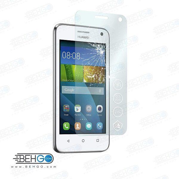 گلس y3 بی رنگ و شفاف هواوی وای 3 یا ,y360 محافظ صفحه نمایش شیشه ای Glass Screen Protector huawei y3