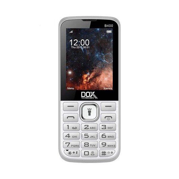 گوشی موبایل داکس مدل B400 سفید دو سیم کارت Dox B400 Dual SIM Mobile Phone