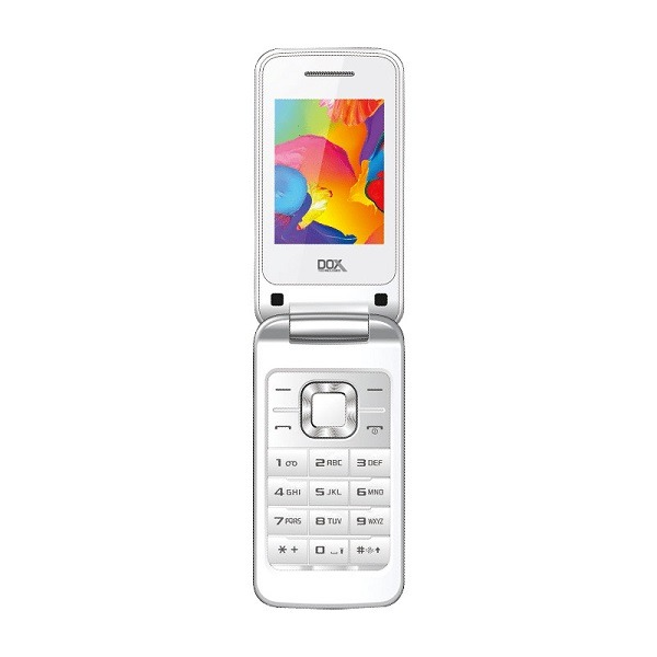 گوشی موبایل داکس مدل V400 سفید دو سیم کارت