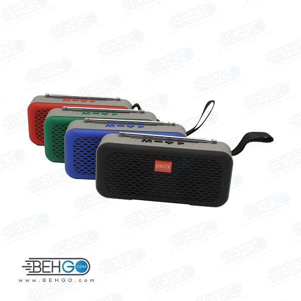 اسپیکر بلوتوثی فلش خور AUXخور رم خور قابل حمل بلندگوی با کیفیت WIRELESS Bluetooth Speaker MODEL OKCY-C1