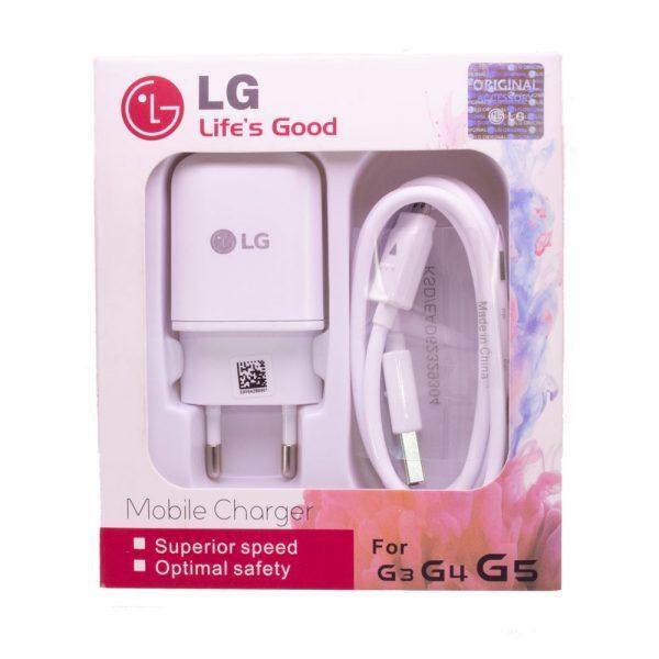 شارژر ال جی مناسب گوشی موبایل الجی مدل اصلی پکدار اداپتور ال جی کابل Mobile Charger for lg