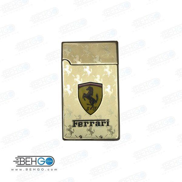 فندک رعد و برقی الکتریکی طرح فراری طلایی Electronic Cigarette Lighter