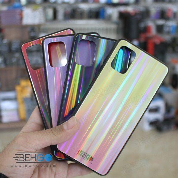 قاب گوشی سامسونگ A71 کاور A71 رنگی لیزری محافظ قاب ای هفتاد و یک گوشی سامسونگ گلکسی ا71 Samsung Galaxy A71 Tempered Glass Laser Case