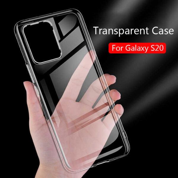 قاب S20 یا S11 ژله ای شفاف محافظ بی رنگ گوشی سامسونگ اس بیست کاور نرم مخصوص S 20/S 11 قاب Clear Cover Case for samsung S11 /S20