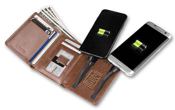 پاور بانک کیفی شارژر همراه ژوس مدل PB-018 ظرفیت 4000 میلی آمپر ساعت Zhuse ZS-PB-018 4000mAh Power Bank And Leather Bag
