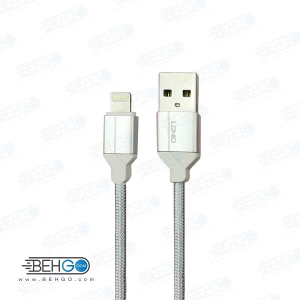 کابل شارژ سریع آیفون لایتنینگ مدل الدینیورنگ قرمز Ldinio LS391 Fast charge lightning cable