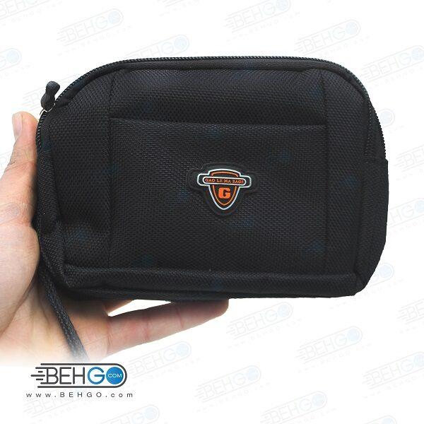 کیف موبایل ، لوازم و کیف پاور بانک مدل گائولما سه زیپ کیف کمری Gaolema 3 zipper Mobile Accessories Bag