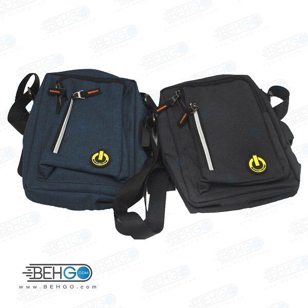 کیف موبایل ، لوازم و کیف پاور بانک مدل گائولما W-02 کیف گردنی ،دوشی و کمری با خروجی کابل Gaolema W-02 Mobile Accessories Bag with usb cable output