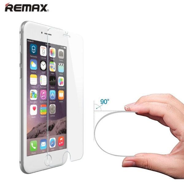 گلس ایفون 6 اس اپل 6 جی برند ریمکس مدل 0.1 میل شفاف محافظ صفحه نمایش شیشه ای اصلی آیفون Remax 0.1mm UltraThin Magic Glass For Apple Iphone 6s and Iphone 6G