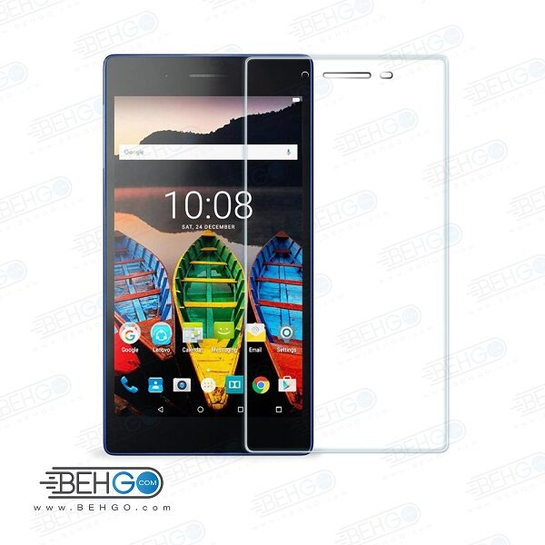 گلس تبلت lenovo tab3 710بی رنگ و شفاف یا محافظ صفحه نمایش شیشه ای تبلت Glass Screen Protector Lenovo tab3 710