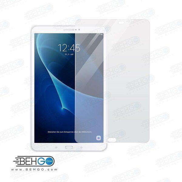 گلس تبلت tab A 2016 t580 ده اینچ بی رنگ و شفاف یا محافظ صفحه نمایش شیشه ای تبلت Glass Screen Protector Samsung tab A 2016 t580 10.1