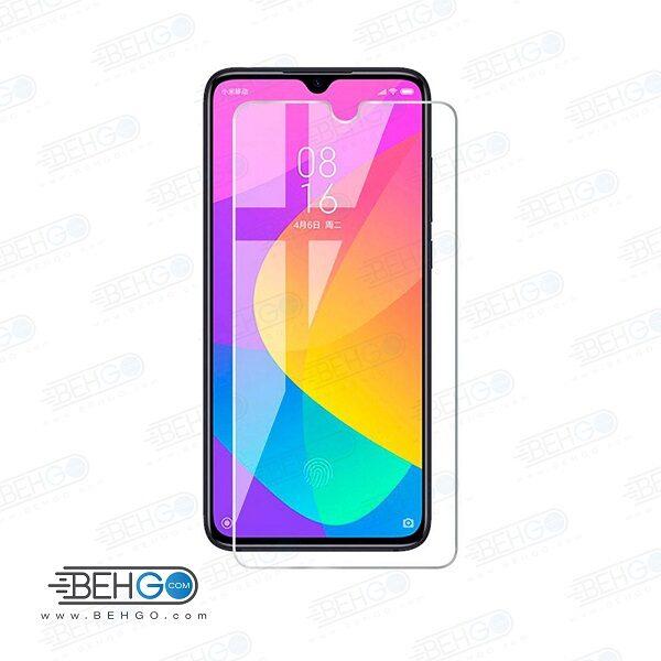 گلس شیائومی mi A3 بی رنگ و شفاف xiaomi mi cc9e یا ,می آ سه محافظ صفحه نمایش شیشه ای Glass Screen Protector Xiaomi Mi A3/Cc9e