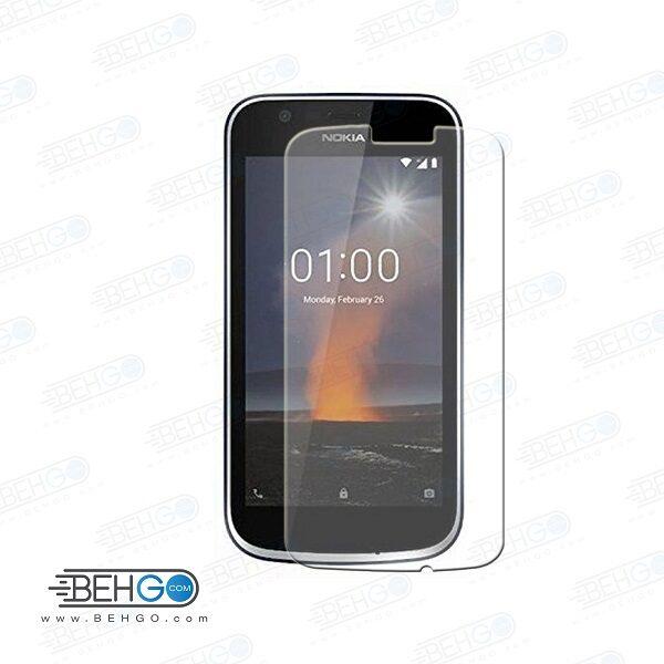 گلس نوکیا 1 بی رنگ و شفاف Nokia 1 نوکیا یک محافظ صفحه نمایش شیشه ای Glass Screen Protector Nokia 1