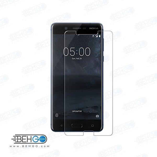 گلس نوکیا 5 بی رنگ و شفاف Nokia 5 یا ,نوکیا پنج محافظ صفحه نمایش شیشه ای Glass Screen Protector Nokia 5