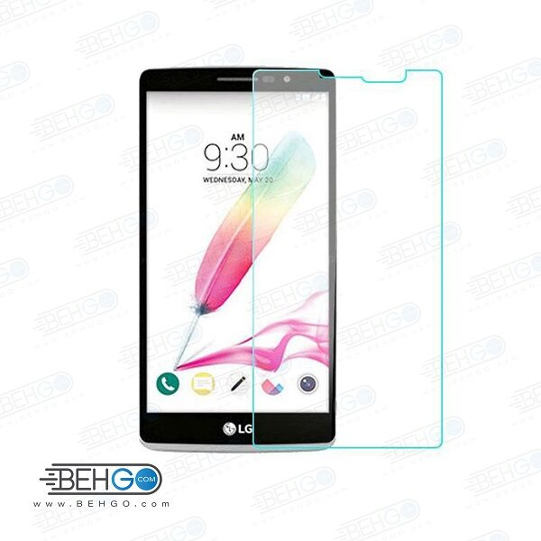 گلس LG G4 stylus بی رنگ و شفاف الجی جی 4 استایلوس یا ,جی 4 استایلوس ال جی محافظ صفحه نمایش شیشه ای Glass Screen Protector LG G4 Stylus