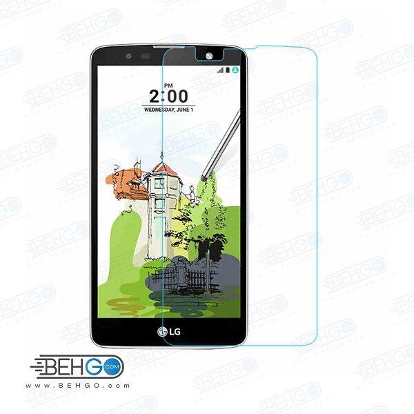 گلس LG stylus2 بی رنگ و شفاف الجی استایلوس 2 یا ,استایلوس 2 ال جی محافظ صفحه نمایش شیشه ای Glass Screen Protector LG Stylus2
