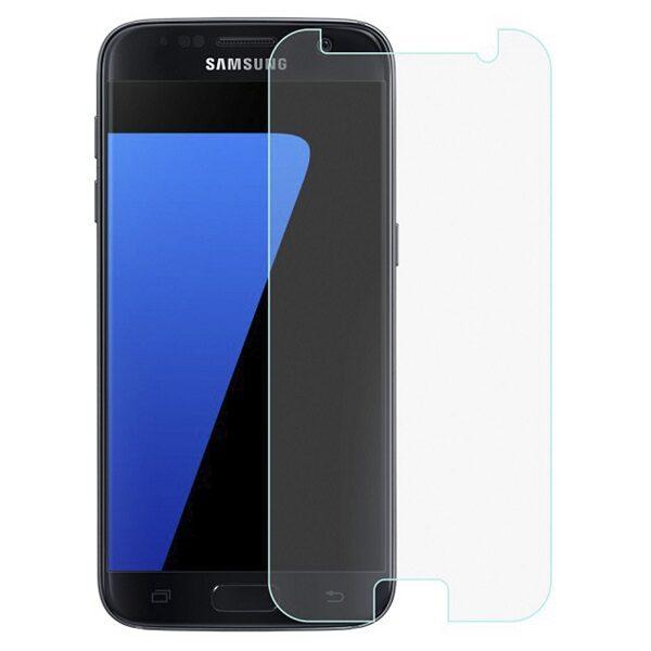 گلس s7 بی رنگ و شفاف سامسونگ s7 یا اس 7 محافظ صفحه نمایش شیشه ای Glass Screen Protector samsung S7