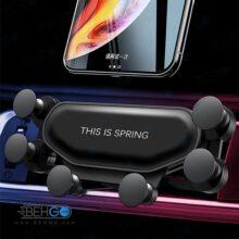 هلدر نگهدارنده گوشی موبایل جمع شو شش پایه اصلی مناسب خودرو مدل Car Holder this is SPRING