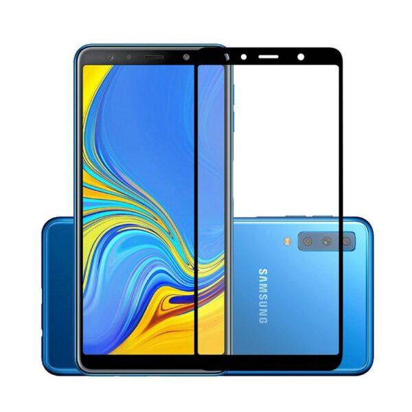 گلس گوشی سامسونگ A9 2018 محافظ صفحه نمایش شیشه ای ای 9 تمام چسب گلس سامسونگ آ Full Glue Glass Samsung Galaxy A9 2018 | A9 Star Pro | A9s