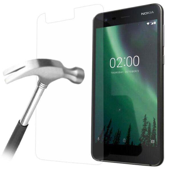 گلس نوکیا 2 بی رنگ و شفاف nokia 2 محافظ صفحه نمایش شیشه ای Glass Screen Protector Nokia 2