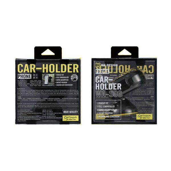 هولدر ماشین مدل جدید برند دابلیو کی مدل Wa-s06 پایه نگهدارنده ی گوشی WK Design WA-S06 Car Holder