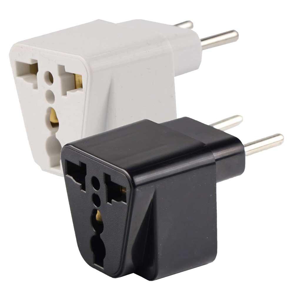 تبدیل ۲ به ۲ تبدیل 3به2 تبدیل همه کاره 3به 2 مدل سوکت مناسب اداپتور دو به دو و سه به دو شارژر برای پریز ایران USA US UK AU To EU Europe Iran Travel Charger Power Adapter Converter Socket Wall Plug Home