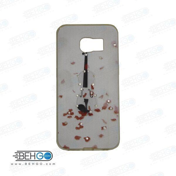 قاب گوشی سامسونگ اس سیکس اج s6 اج طرح دار مدل ویولن Back cover For Samsung galaxy S6 edge