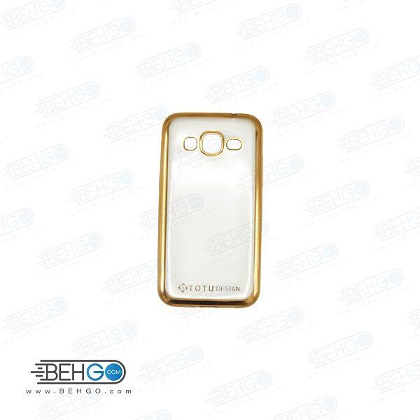 قاب گوشی سامسونگ کور پریم G360 بی رنگ و شفاف دور طلایی clear cover For Samsung galaxy Core prime