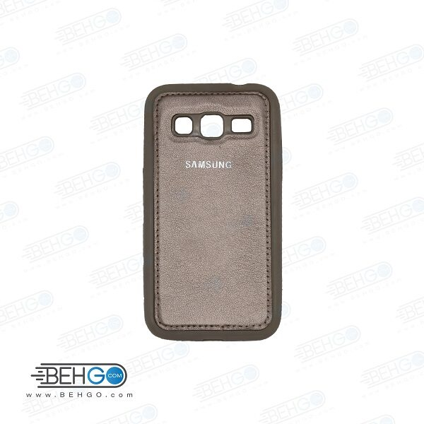 قاب گوشی سامسونگ کور پریم G360 طرح چرم رنگ قهوه ای clear cover For Samsung galaxy Core prime