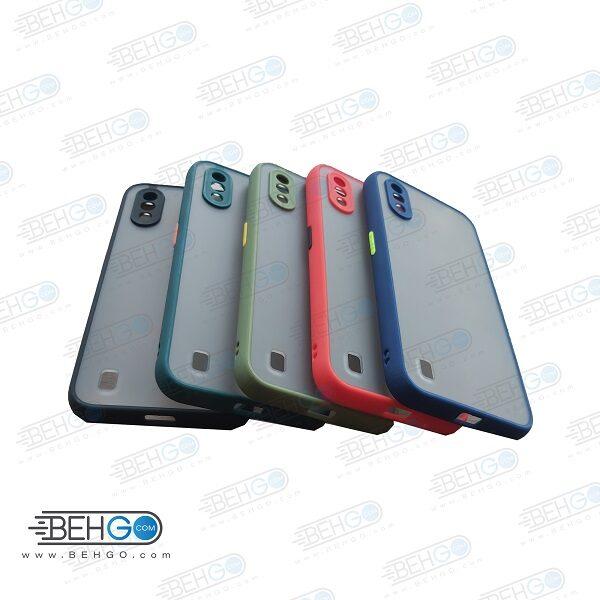 قاب گوشی سامسونگ a01 و m01 کاور محافظ دور رنگی پشت مات با برجستگی لنز دوربین گوشی موبایل Fashion Case Samsung M01 / A01