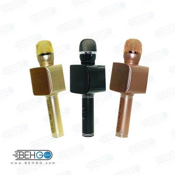 میکروفون اسپیکر بلوتوثی بیسیم با امکان ضبط صدا،پخش،اکو دار، فلش خور ، اسپیکر میکروفونی اصلی سازگار با گوشی اندروید و ایفون SU YUSD YS 68 KTV Karaoke Magic Wireless Bluetooth Microphone Speaker YS 68
