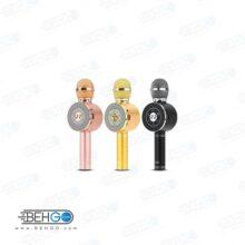 میکروفون اسپیکر بلوتوثی بیسیم با امکان تغییر صدا ،ضبط،پخش،اکو دار، فلش خور ، اسپیکر میکروفونی اصلی سازگار با گوشی اندروید و ایفون SU YUSD WS 668 KTV Karaoke Magic Wireless Bluetooth Microphone Speaker WS 668