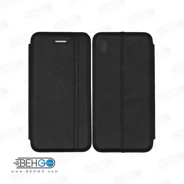 کیف ردمی 7a شیائومی کاور 7a مدل کلاسوری ردمی هفت آ چرمی کیف گوشی شیاومی Xiaomi Redmi 7a Leather Flip Cover Redmi 7a