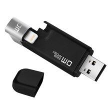 فلش DM مدل APD001 ظرفیت 64 گیگابایت مشکی USB3