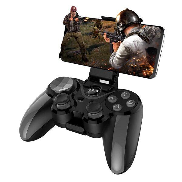 دسته پابجی دسته بازی گوشی برند آی پگا مدل PG-9128 مناسب برای بازی موبایل iPega 9128-PG Black Kingkong Wireless Game Controller For PUBG